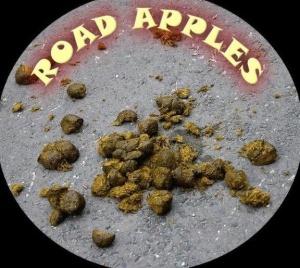 Road apples aka horse poop