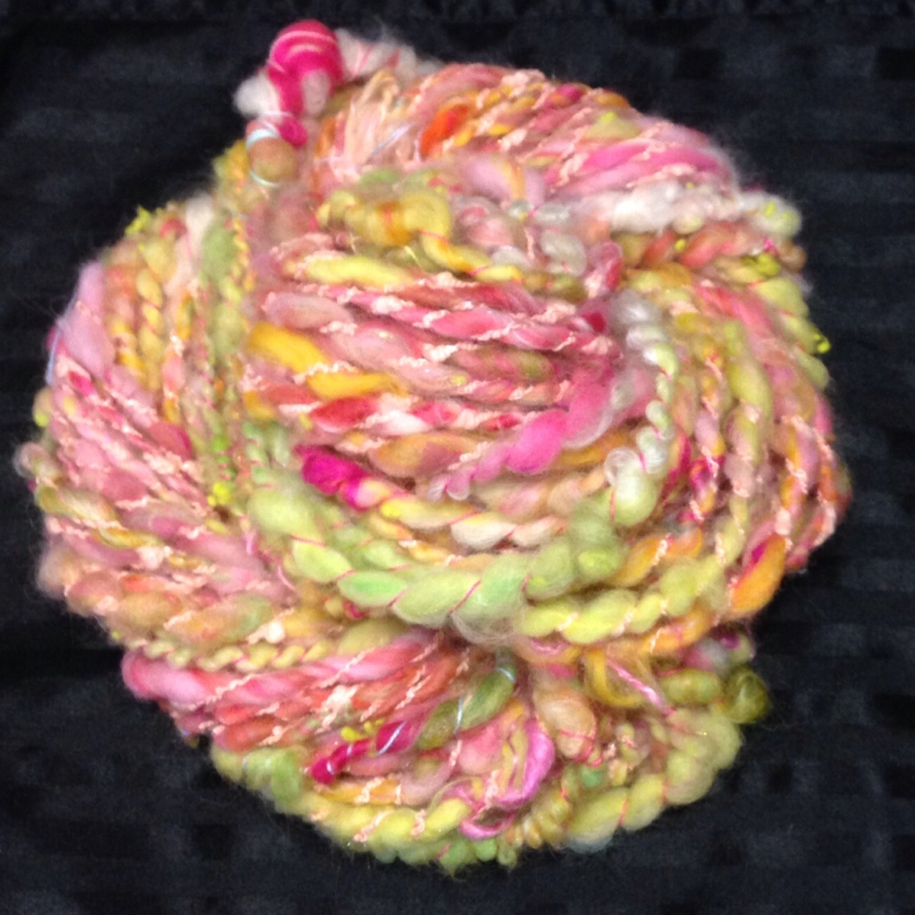 Water lily handspun finished yarn