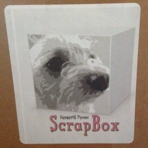 Namaste Farms Scrapbox Logo - with the beloved mascot Scrappy *scrapbox logo belongs to Namaste Farms*